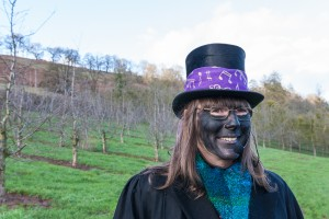 Penny as 'Butler' in charge of the Wassail