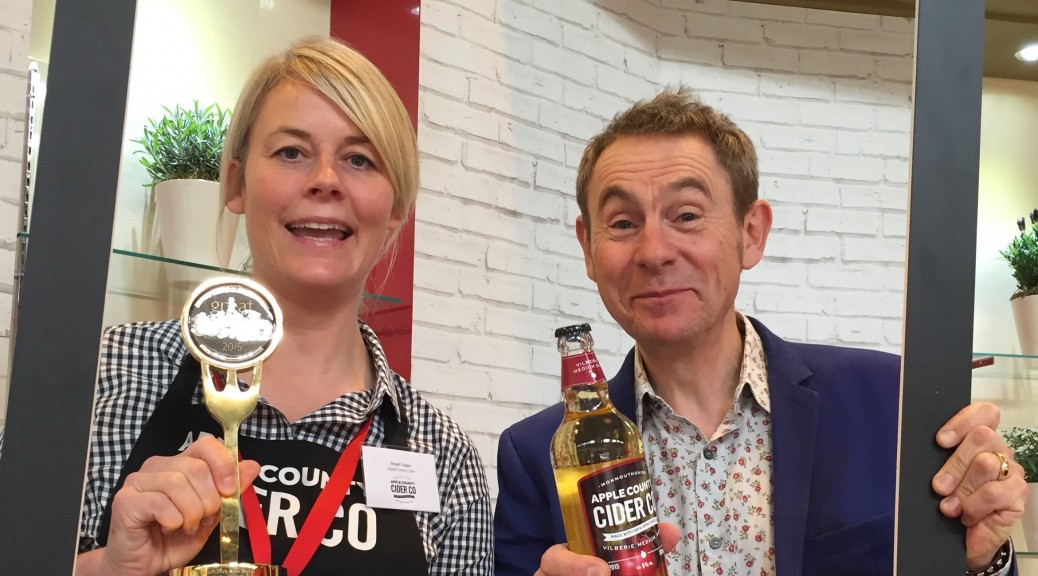 Steph with Nigel Barden at Food & Drink Expo 2016