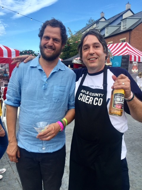 Ben with Valentine Warner at Abergavenny Food Festival