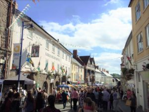 The crowds at Abergavenny Food Festival